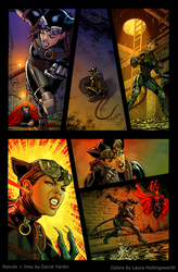 Catwoman Page - Colored by LauraHollingsworth