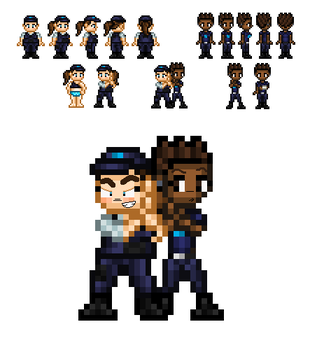 Sanders and MacArthur Sprites by Vilecheese2