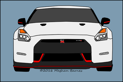 2016 Nismo Nissan GT-R in White by megbarnes13