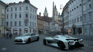 Nissan GTR R35 and Concept 2020 Vision GT by NissanGTRFan