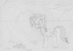 MFOEF - Rarity Is Digging For Treasures by Imaflashdemon