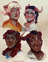 Qunari ladies by CCCrystalClear