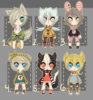 Kemonomimi- offer set ENDS 4 HOURS get offers in! by Saygo-pohm