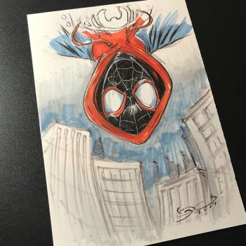 Miles Morales sketch  by shaotemp
