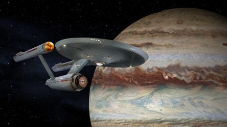 Restored Starship Enterprise Model at Jupiter by Cannikin1701