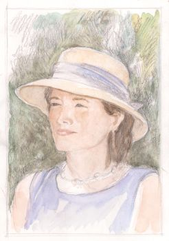 Girl with Hat Portait by KatyAmlie