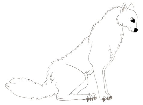 Male Wolf Lineart by DarkHarryPotter101