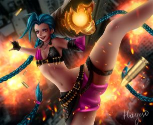 Jinx [League of Legends] by Hayes-irina