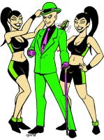Riddler and Q-twins by RedSpider2008