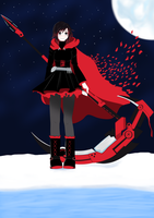 Ruby Rose - RWBY by AlphaDeltaZeta