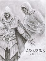 Assassins creed sketch by Hulkster77