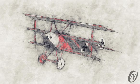 Fokker DR1 Red Baron by NikiballOne