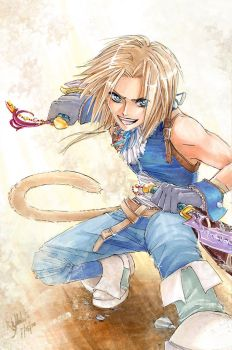 FF9: Zidane Tribal by Atomic-Clover