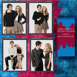Freddie Highmore y Emma Roberts PNG PACK by voidxprescott