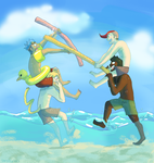 Pool Noodle vs Pool Noodle by Tanglecolors