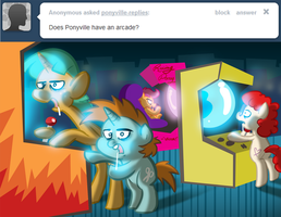 Arcade -Ponyville Replies Tumblr- by WillDrawForFood1