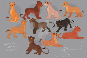 TLK style Lioness Adoptables Lot 2 -CLOSED- by Kitchiki