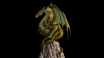 Azia Lagoon Dragon - 2D to 3D GIF by paulrich