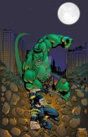Hulk vs Wolvie by pauloskinner