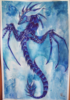Blue Pen Dragon by Penfell