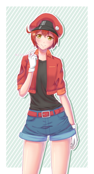 Red Blood Cell from Cells at Work! | Fanart by BlueBubble83