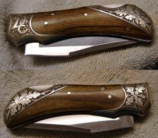 Engraved Knife by Woolf20