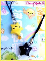 Origami Star Phone Charms by CherryAbuku