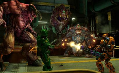 Doom 4 with Baron, cacodemon and fatboy by Hellsmith5