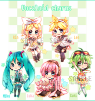 [SALE] Vocaloid charms! by mameshii