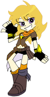 RWBY- Yang Xiao Long (Panty and Stocking Style) by MargaritaTaichou