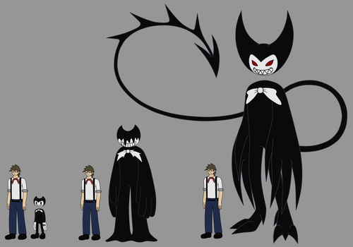 Henry to Bendy -all 3 forms- by DemonSheyd500025