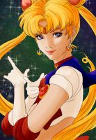 Colored version of Artgerm's Sailor Moon by Law-lie