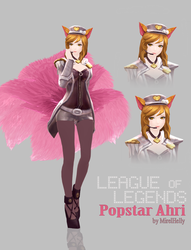 [MMD] League of Legends - Popstar Ahri WIP by MirelHelly