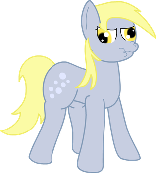 Determined Derpy by EbenToons