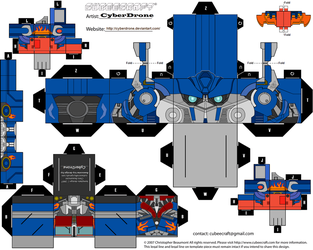 Cubee - Optimus Prime 'Movie' by CyberDrone