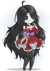 Outfit test for a waifu chibi by Kiumii