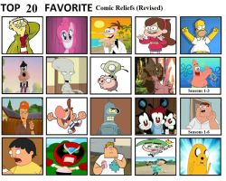 Top 20 Comic Reliefs (Revised) by mlp-vs-capcom