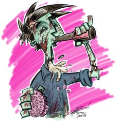 The Saddest Chairman Zombie by TheChairmanOfAwesome