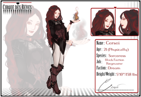 .: CdR :. Black Faction Ringmaster: Cersei by peachyelf