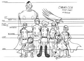 Cyborg 009 Height Chart by inertbiscuit