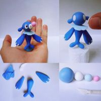 Pokemon Sun Pokemon Moon Popplio Clay