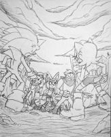 .::Comm: Sonic/Sal vs Desert Freedom Fighters::. by Sonar15