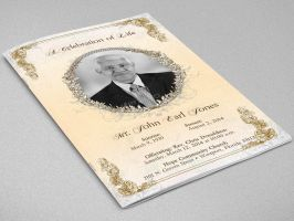 Victorian Funeral Program Template by Godserv