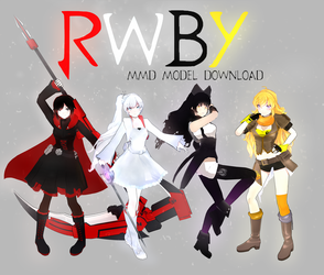 MMD- .::TEAM RWBY+DOWNLOAD::. by whimsicottsh