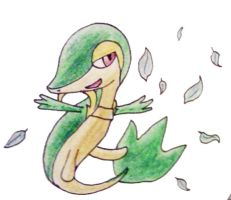 Snivy Edited by BeCeejed