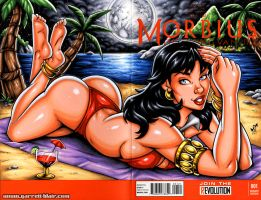 Moonbathing Vampirella sketch cover by gb2k