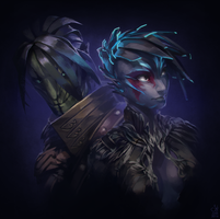 Guild Wars 2 Portrait Commissions - Sylvari Couple by jylgeartooth