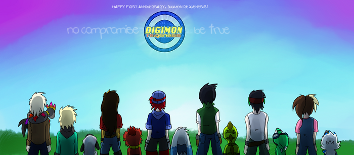 Happy 1st Birthday, Digimon re:GENESIS! by glitchgoat