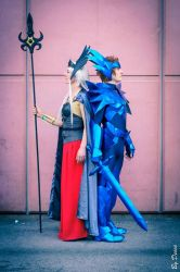 Cosplay Saint Seiya Odin Cloth and Polaris Hilda by CosplayQuest