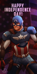 Captain America wishes you a Happy 4th! by IronWarrior777